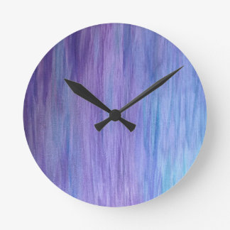 Purple and Turquoise Fusion Round Clock