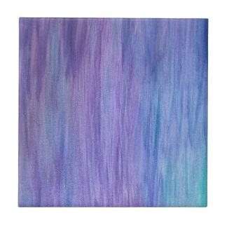 Purple and Turquoise Fusion Small Square Tile