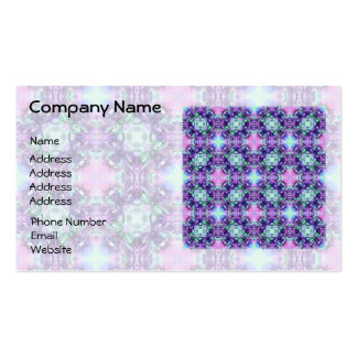 Purple and Turquoise Hippy Fractal Pattern Double-Sided Standard Business Cards (Pack Of 100)