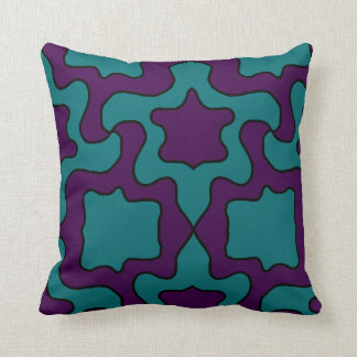 purple and turquoise pillow