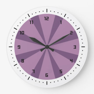Purple and Violet sunburst Clocks