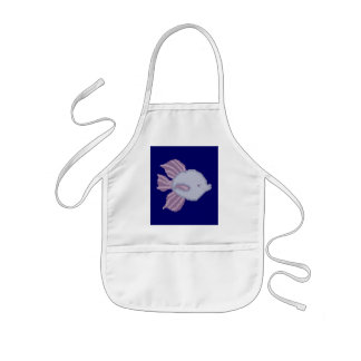 Purple and Violet Tropical Fish Kid s Apron