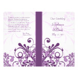 Purple and White Abstract Floral Wedding Program 21.5 Cm X 28 Cm Flyer