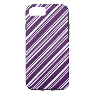 Purple and White Candy Stripes iPhone 8/7 Case