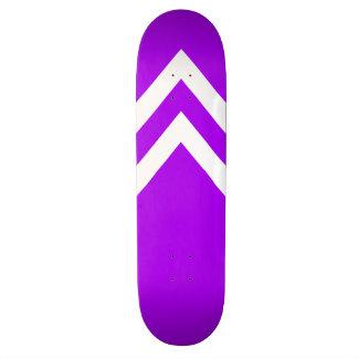 Purple and White Chevrons Skateboard Deck