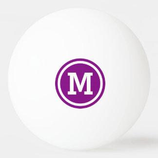 Purple and White Circle Monogram