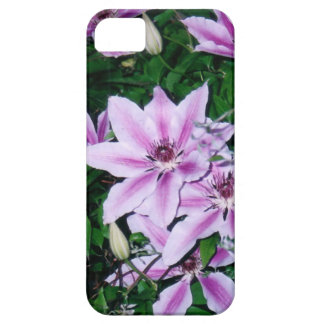 Purple and White Clematis Barely There iPhone 5 Case