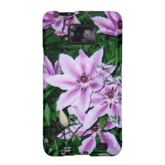 Purple and White Clematis Galaxy SII Case