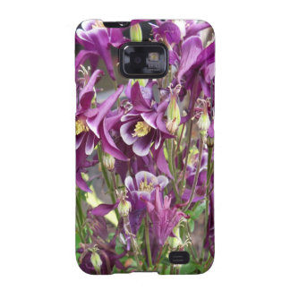 Purple and White Columbines Galaxy S2 Cover