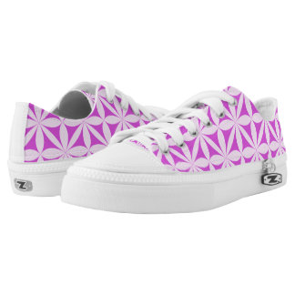 Purple and white decorations low tops