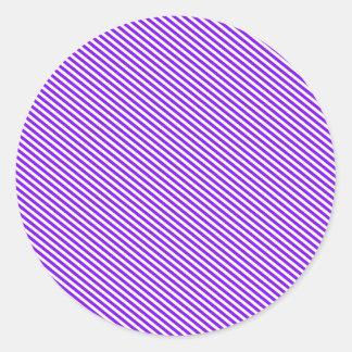 Purple and White Diagonal Stripes Stickers