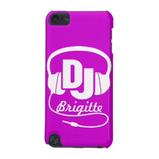 Purple and white DJ name headphone ipod case iPod Touch (5th Generation) Cover