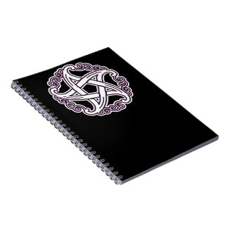 Purple and White Fancy Pentacle Notebooks