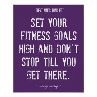 Purple and White Fitness Goals 001 Print