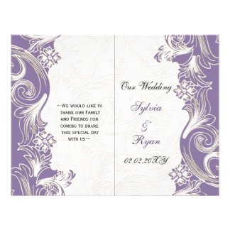 Purple and White Floral Spring Wedding Flyer