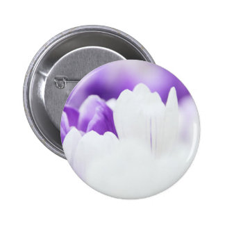 Purple and White flower background Button