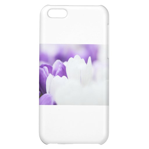 Purple and White flower background Case For iPhone 5C