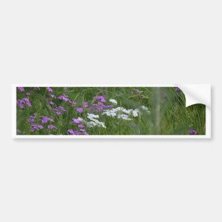 Purple and White flowers Bumper Sticker