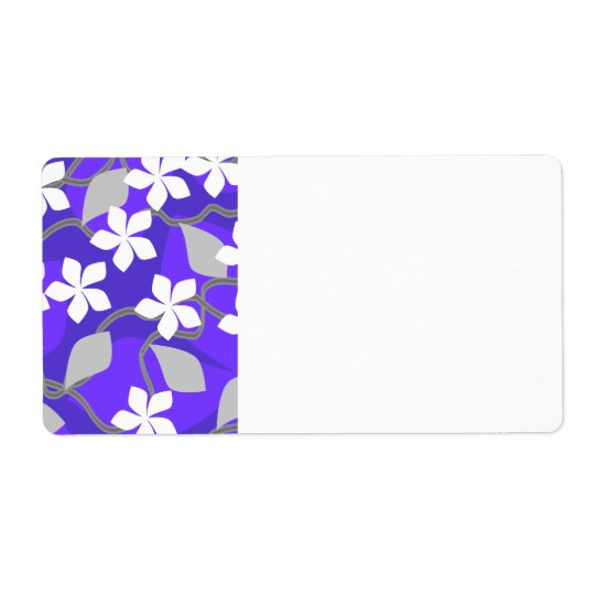 Purple and White Flowers. Floral Pattern.