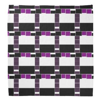 Purple And White Geometrical Pattern Bandana