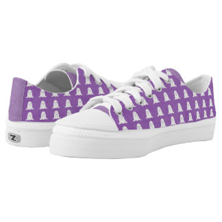 Purple and White Ghosts Low Tops