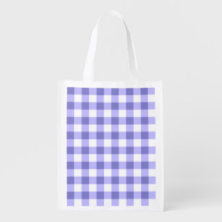 Purple And White Gingham Check Pattern