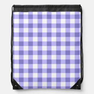 Purple And White Gingham Check Pattern Rucksacks