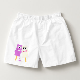 PURPLE AND WHITE ICE LOLLIES IN LOVE! BOXERS
