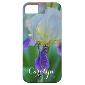 Purple and White Iris Barely There iPhone 5 Case
