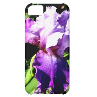 Purple and White Iris iPhone 5C Covers