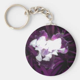 Purple and White Iris Key Chains