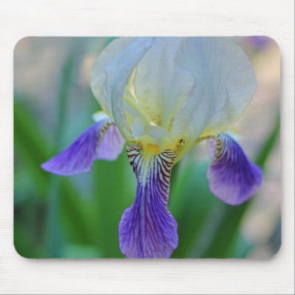 Purple and White Iris Mouse Mat