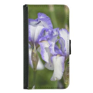 Purple and White Irises Samsung Galaxy S5 Wallet Case