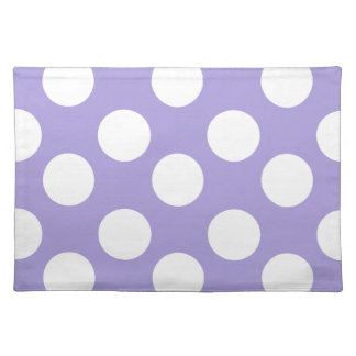 Purple and White Large Polka Dot Placemat