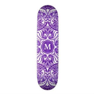 Purple and White Mandala  - Monogram Skate Board Decks