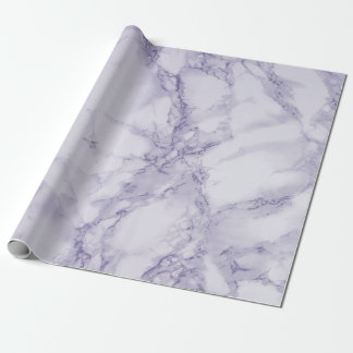 Purple and White Marble Texture Look Wrapping Paper