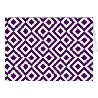 Purple and White Meander Card