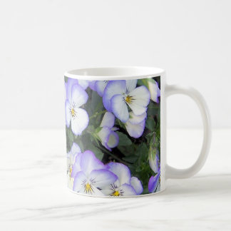 Purple and White Pansies Coffee Mug
