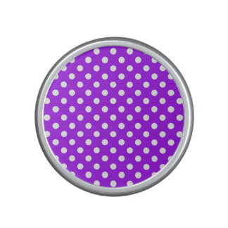 Purple and White Polka Dots Bluetooth Speaker