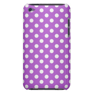 Purple and White Polka Dots Barely There iPod Cover