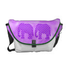 Purple and White Polka Dots Elephant Commuter Bag