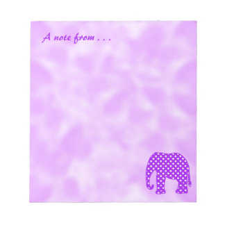 Purple and White Polka Dots Elephant Notepads
