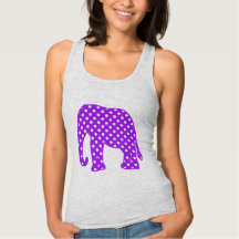 Purple and White Polka Dots Elephant Tshirts