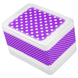 Purple and White Polka Dots Igloo Cool Box