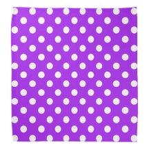 Purple and White Polka Dots Kerchiefs