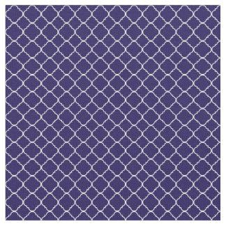 Purple and White Quatrefoil Fabric