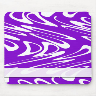 Purple and White Retro Pattern Mouse Pad