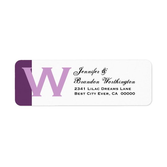 Purple and White - Simple and Elegant Personalised