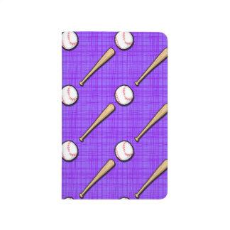 Purple and White Softball Pattern Journal