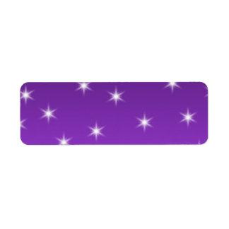 Purple and White Stars, Pattern.